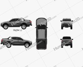 Fiat Fullback Concept 2016 car clipart