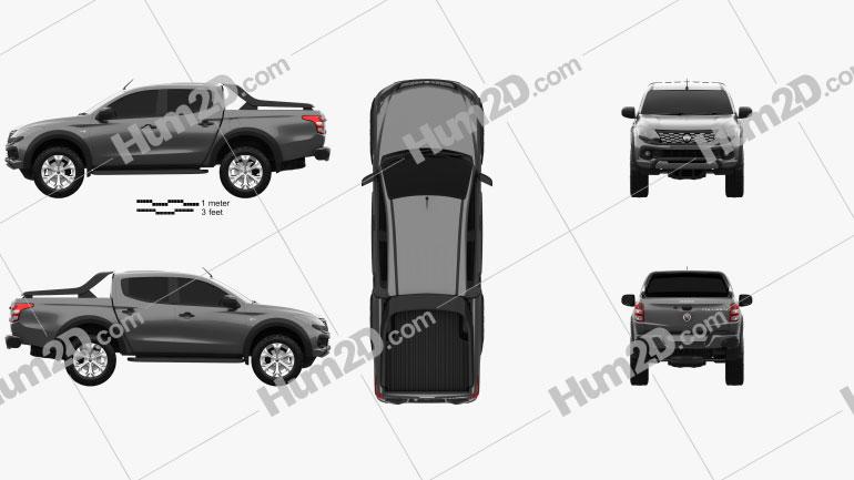Fiat Fullback Concept 2016 Clipart Image