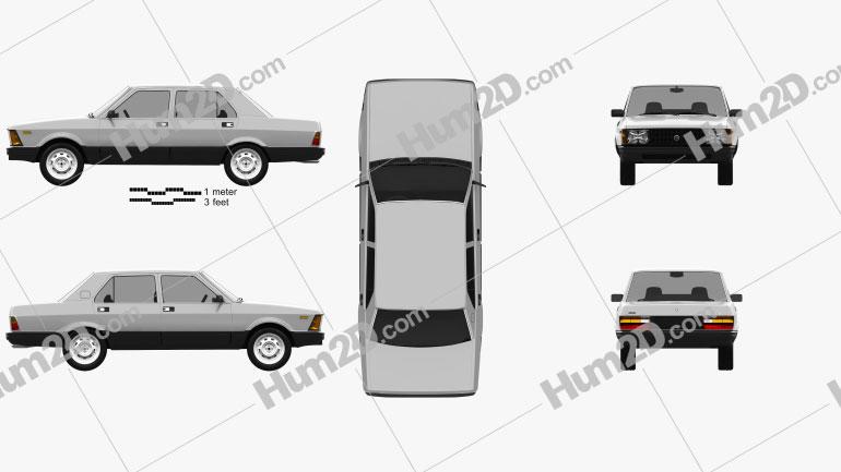 Fiat Argenta 1981 car clipart