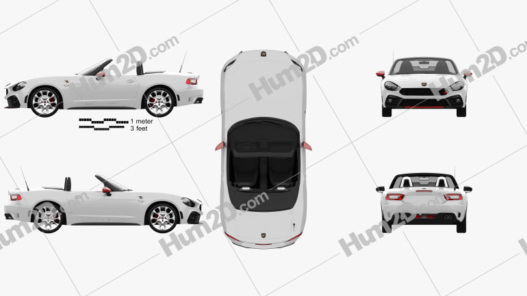 Fiat 124 Spider Abarth 2017 car clipart