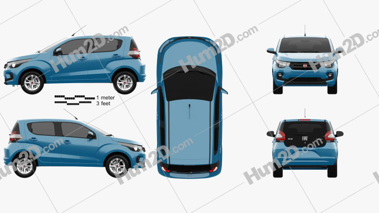 Fiat Mobi Like On 2017 Clipart Image