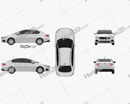 Fiat Egea Easy 2016 Clipart