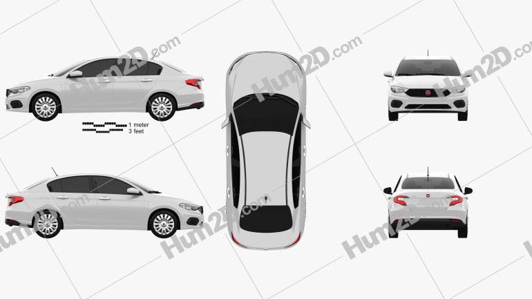 Fiat Egea Easy 2016 Clipart Image