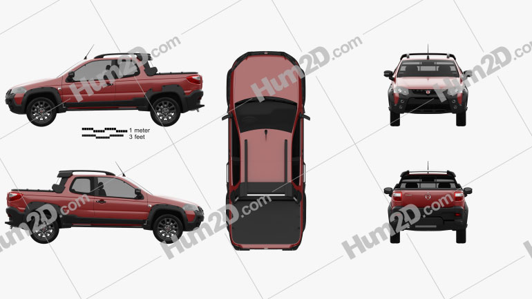 Fiat Strada Adventure CD Extreme 2015 Clipart Image