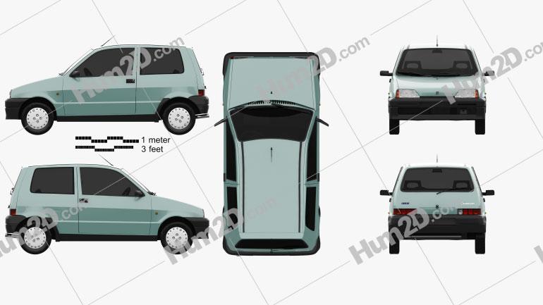 Fiat Cinquecento 1991 Clipart Image