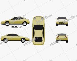 Fiat Coupe Pininfarina 1998 car clipart