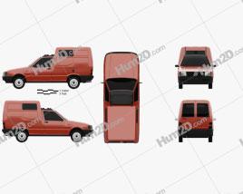 Fiat Fiorino Panel Van 1988 clipart