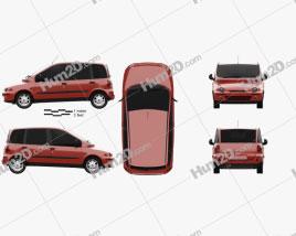 Fiat Multipla 1998 clipart