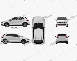 Fiat Argo HGT 2017 car clipart