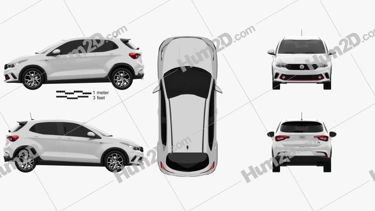 Fiat Argo HGT 2017 Clipart Image