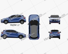 Fiat Argo HGT Opening Edition Mopar 2017 car clipart