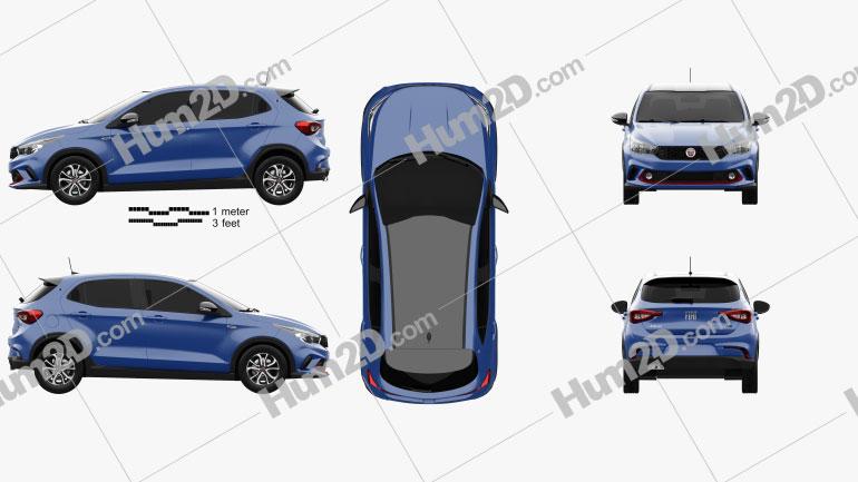 Fiat Argo HGT Opening Edition Mopar 2017 Clipart Image