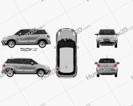 Fiat 500L Cross 2017 car clipart