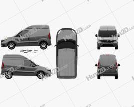 Fiat Doblo Cargo L1H2 2015 clipart