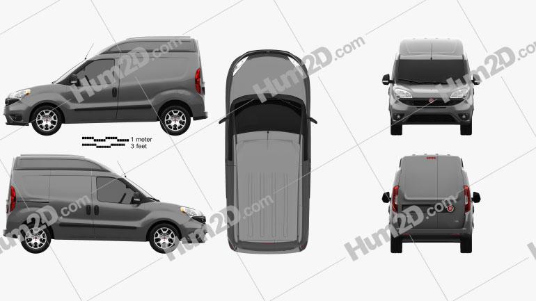 Fiat Doblo Cargo L1H2 2015 Clipart Image