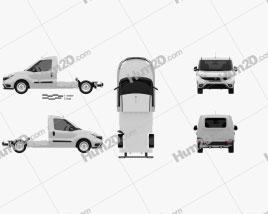 Fiat Doblo Chassis L2 2015 clipart