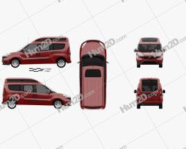 Fiat Doblo Combi L2H2 2015 clipart