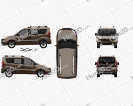 Fiat Doblo Trekking 2015 clipart