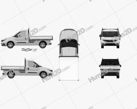 Fiat Doblo Work Up 2015 car clipart