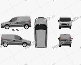 Fiat Doblo Cargo L1H1 2015 clipart
