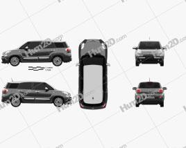 Fiat 500L Wagon 2017 car clipart
