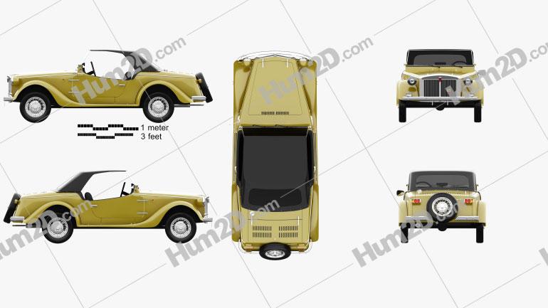 Fiat Siata Spring 1968 car clipart