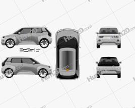 Fiat Centoventi 2019 car clipart
