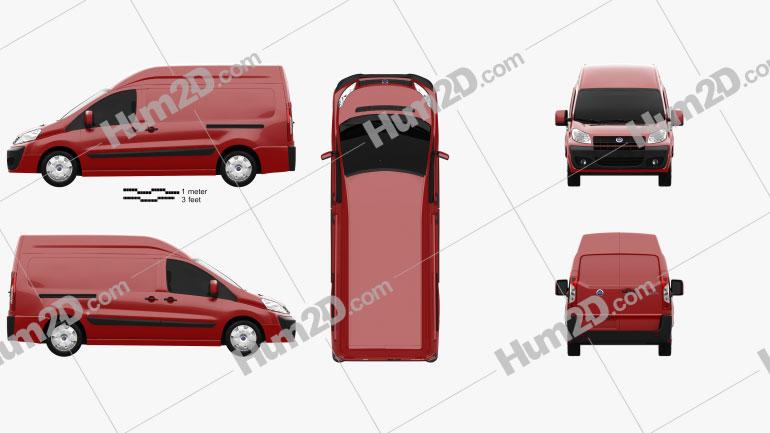 Fiat Scudo Cargo L2H2 2011 clipart