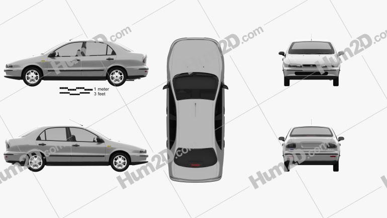 Fiat Marea 1997 car clipart