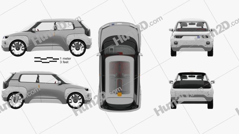 Fiat Centoventi com interior HQ 2019 car clipart