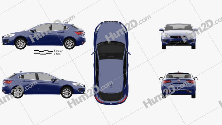 Fiat Ottimo 2014 Clipart Image