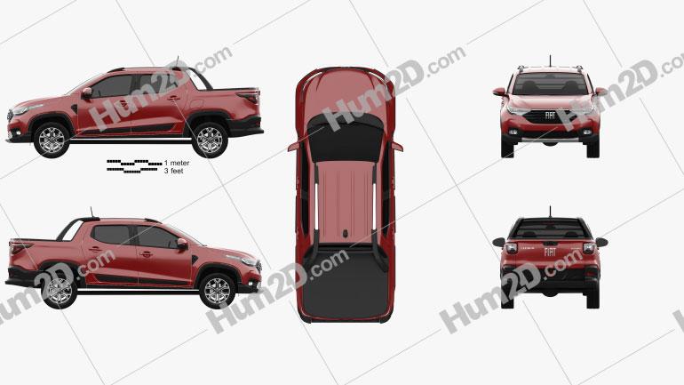 Fiat Strada CD Volcano 2020 car clipart