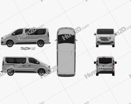 Fiat Talento Passenger Van 2016 clipart