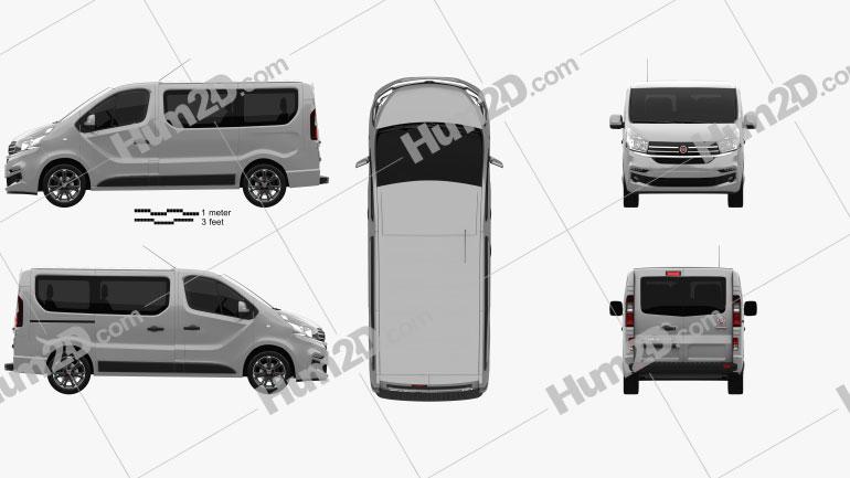 Fiat Talento Passenger Van 2016 Clipart Image