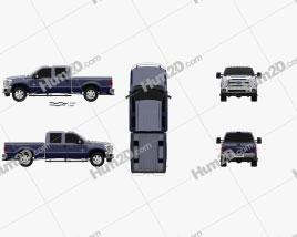 Ford Super Duty Crew Cab 2011 car clipart