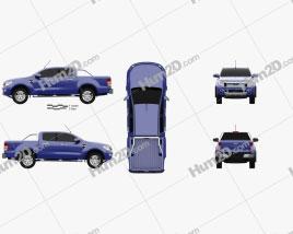 Ford Ranger (T6) 2011 car clipart