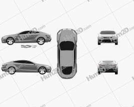 Ford Iosis Concept 2005 car clipart