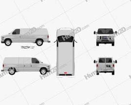 Ford E-series Van 2011 clipart