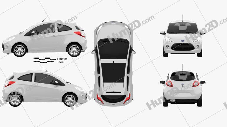 Ford Ka 2009 Clipart Image