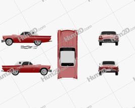 Ford Thunderbird 1957 car clipart