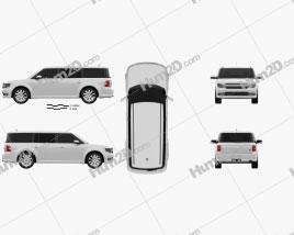 Ford Flex 2013 car clipart
