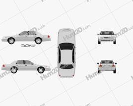 Ford Crown Victoria 2005 car clipart