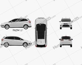 Ford Grand C-max 2011 car clipart