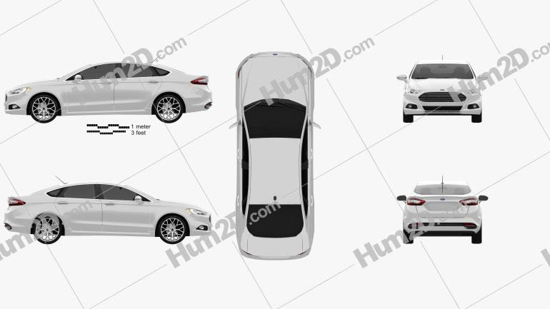 Ford Fusion (Mondeo) 2013 car clipart