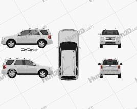 Ford Escape 2012 car clipart