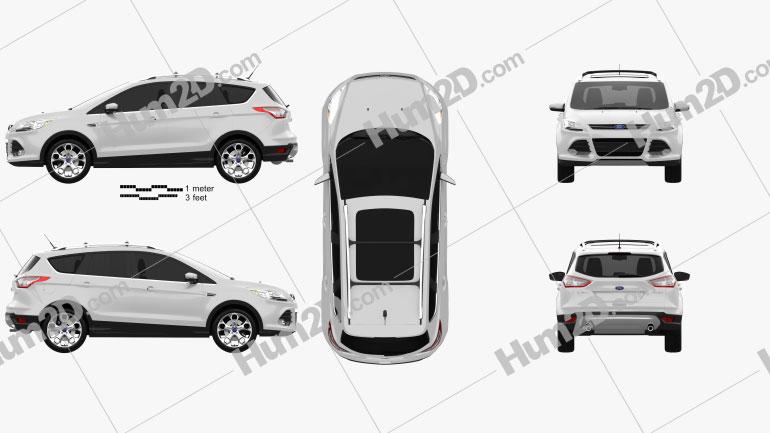 Ford Escape (Kuga) 2013 car clipart
