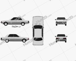 Ford Granada Sedan 1982 car clipart