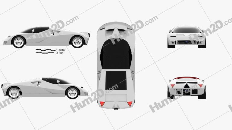 Ford GT90 1995 car clipart