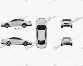 Ford Taurus SHO 2013 car clipart