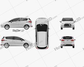 Ford B-MAX 2013 car clipart